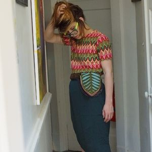 Authentic 1960's psychedelic chevron shirt